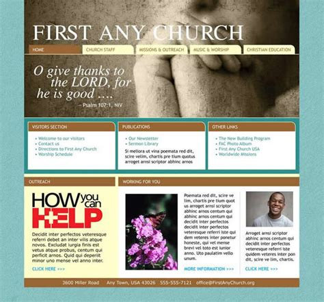 Find Professional Church Website Templates Church Art Online Find Website Template