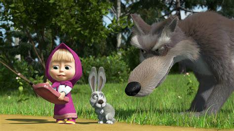 masha bear wolf cartoon