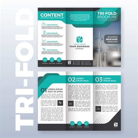 Charming Furniture Designing Software Free Download #6: Business-tri-fold-brochure-template-design-with-turquoise-color-scheme-in-a4-size-layout-with-bleeds_1198-358.jpg