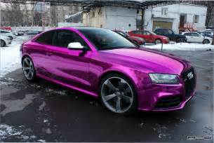 Pink Audi A6 Audi Rs5 Chrome Purple Wrap Photo 3 Shades Of Purple