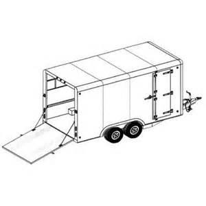home built cer trailer plans covered cargo tandem axle trailer blueprints trailer
