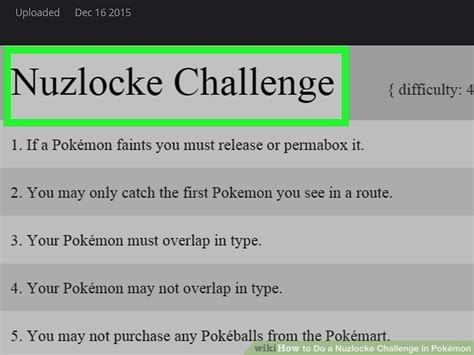 nuzlock challenge how to do a nuzlocke challenge in pok 233 mon 10 steps