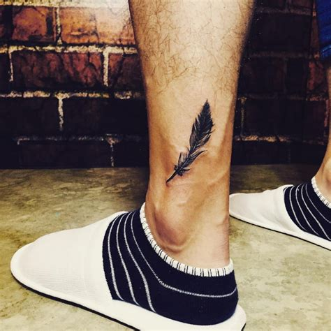 ankle tattoo designs for men 46 feather designs ideas design trends