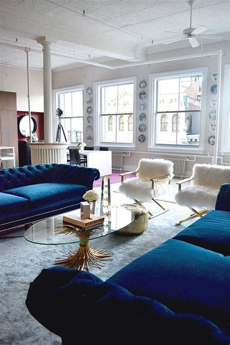 Navy And White Chair Design Ideas 21 Different Style To Decorate Home With Blue Velvet Sofa