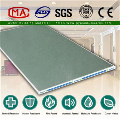 Moisture Resistant Gypsum Board Ceiling by China Water Resistant Plasterboard Gypsum Board China