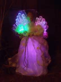 christmas victorian fiber optic lighted gold beaded angel