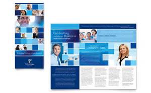 technology consulting amp it tri fold brochure template design