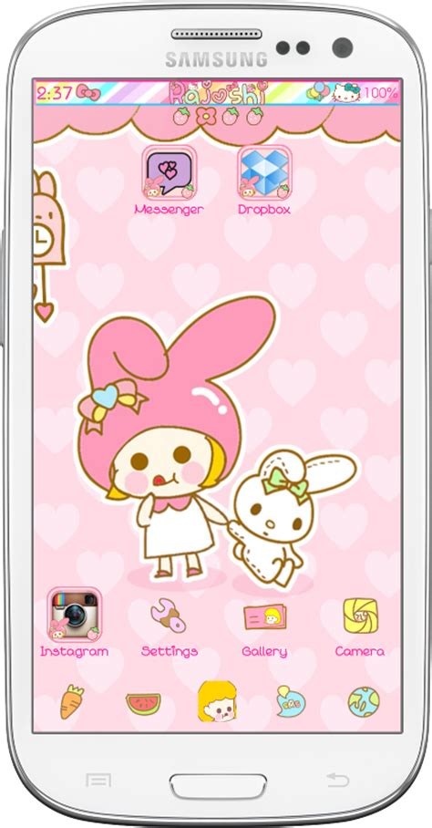 My Mlody Untuk Iphone Samsung my melody go launcher theme android themes