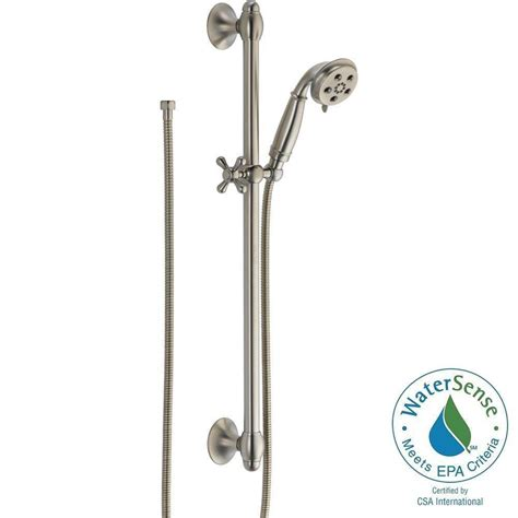 Shower With Slide Bar by Delta 3 Spray 2 0 Gpm Shower With Slide Bar In