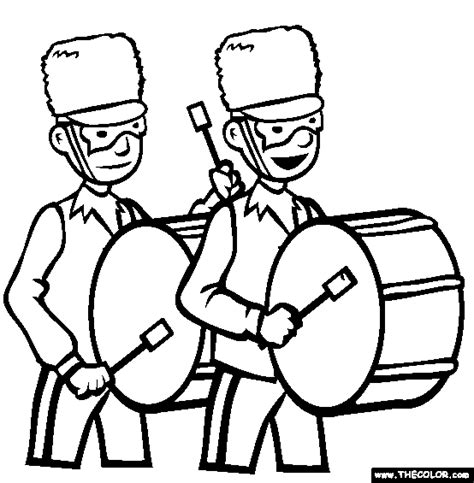 Online Coloring Pages Starting With The Letter M Page 2 Marching Band Coloring Pages