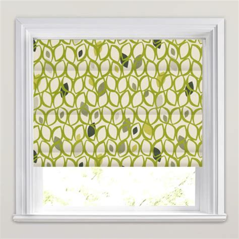 leaf patterned roman blinds lime green roman blinds funky contemporary leaf patterned