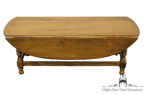 Ethan Allen Drop Leaf Coffee Table High End Used Furniture Ethan Allen Circa 1776 Maple 50 Oval Drop Leaf Coffee Table 18 8000