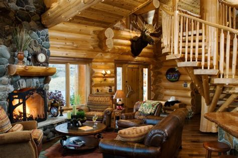 log cabin living room furniture 20 cabin living room designs ideas design trends