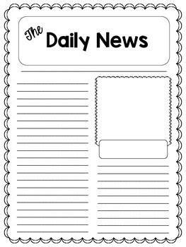 Children S Newspaper Article Template