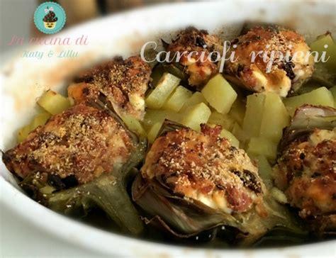 come cucinare le mammole carciofi ripieni con patate al forno ricetta verdure