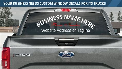 Window Decals For Trucks by Custom Window Decals For Trucks Why Your Business Needs Them