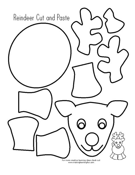 printable reindeer activities reindeer printable cut out google search christmas