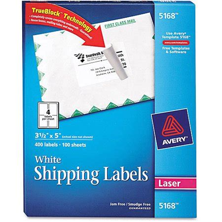avery 5168 label template avery 5168 white shipping labels for laser printers 3 1 2
