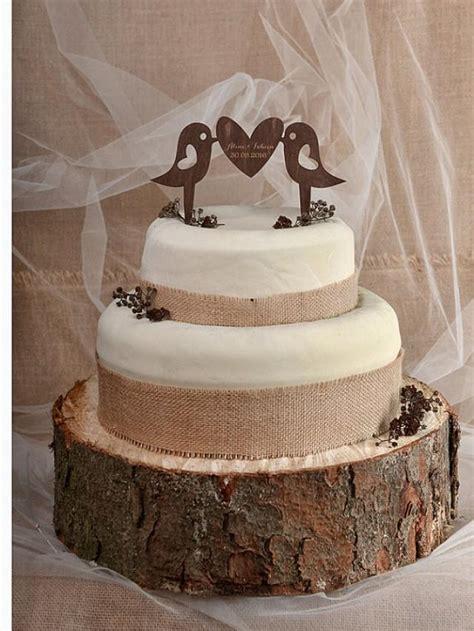 Wood Cake Topper rustic cake topper wood cake topper monogram cake topper