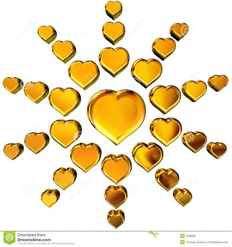 imagenes de corazones oro corazones de oro 3d imagen de archivo imagen 4266061