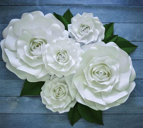 paper flower wedding tutorial large paper rose template giant paper flower printable