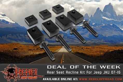 jku rear seat recline deal of the week innovative jk products jku rear seat