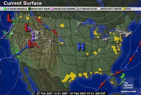 us weather map high and low pressure weather and songbird migration
