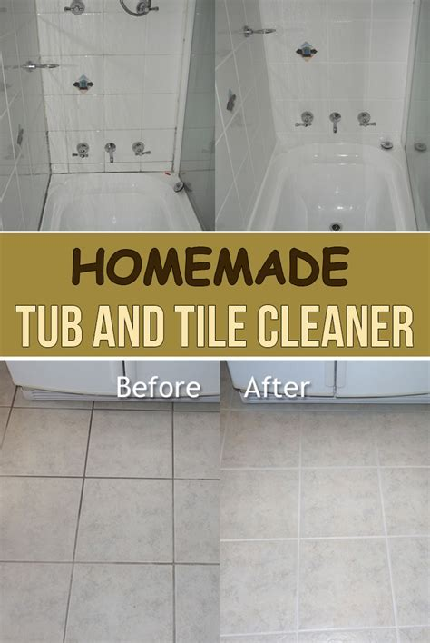 Homemade Tub And Tile Cleaner   Simple Tips for You
