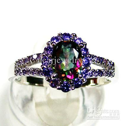 Fashion Jewelry Ellipse Amethyst Stone Ringstic Main