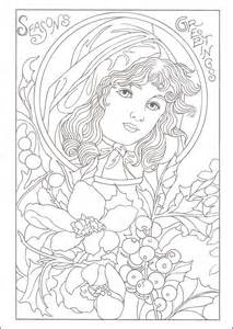 vintage coloring books 39 best images about fanciful faces coloring on