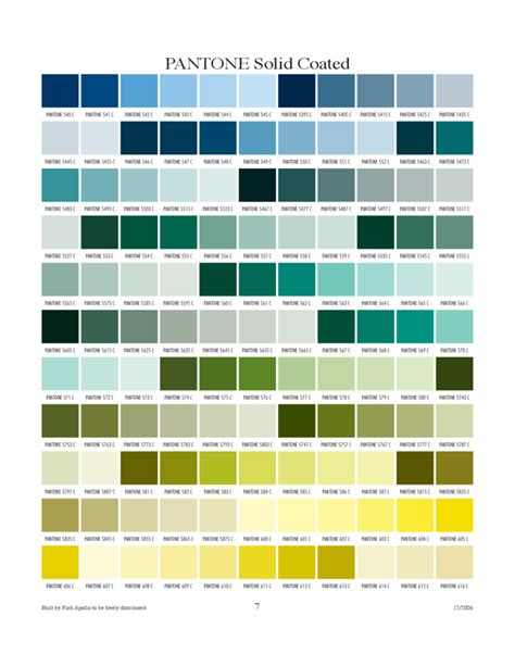 Pantone L by Pantone Solid Coated Chart Free