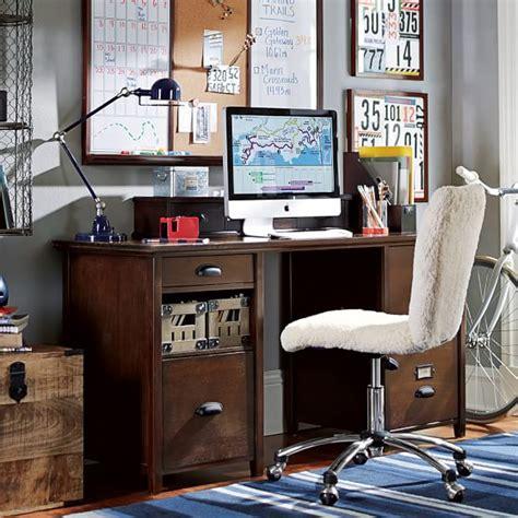 Large Desk With Storage Chatham Large Storage Desk Hutch Pbteen
