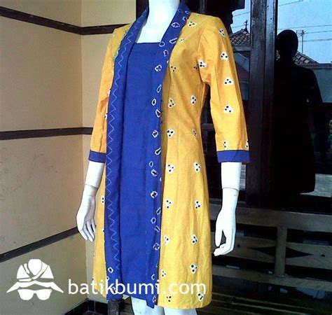 Stelan Batik Rnb Encim Jumputan dress kutubaru batik dress wanita batik