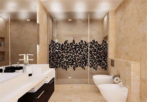 animal print bathroom ideas leopard print cling leopard print decor for