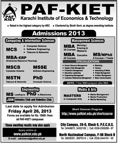 Mba Subjects In Karachi by Pak Kiet Karachi Institute Of Economics Technology