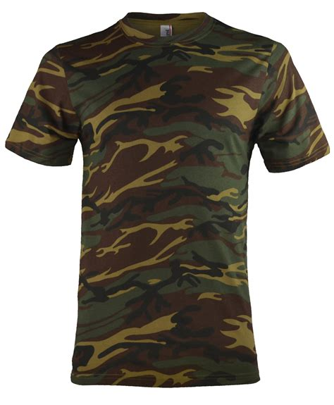 Army Print T Shirt Mens by Mens Camouflage Army Print T Shirt 100 Cotton Combat Top Camo Sz Xs 4xl Ebay