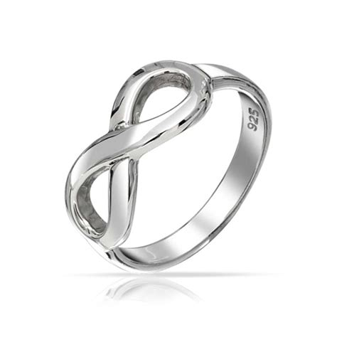 ring infinity symbol figure 8 infinity symbol sterling silver ring