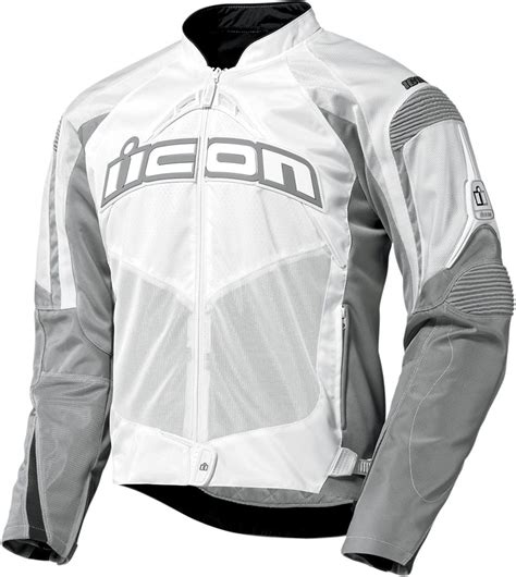white motorbike jacket icon contra mens textile motorcycle jacket white