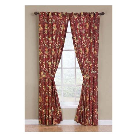 waverly curtains at lowes shop waverly felicite 84 in l floral crimson back tab