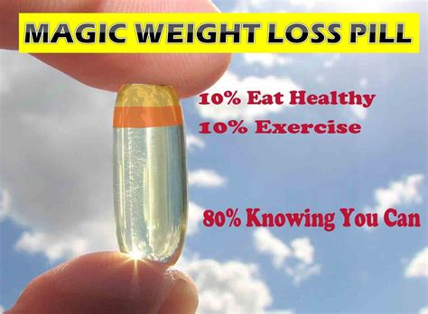 a weight loss pill stop looking for a magic weight loss pill