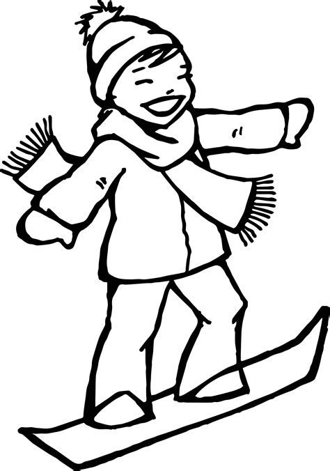 happy girl coloring page winter happy girl coloring page wecoloringpage