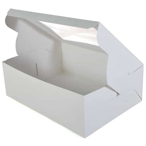 cake boxes with window cake boxes half sheet cake box with window 19x14x6 in