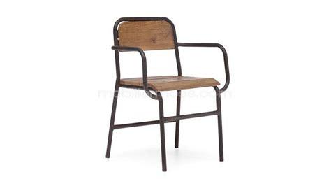 chaise bois metal chaise 224 accoudoirs en bois et m 233 tal brighton mobilier