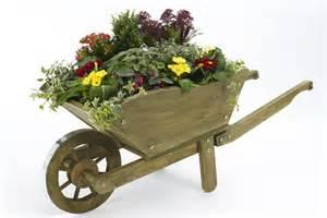 wood decorative wheelbarrow planter pdf plans