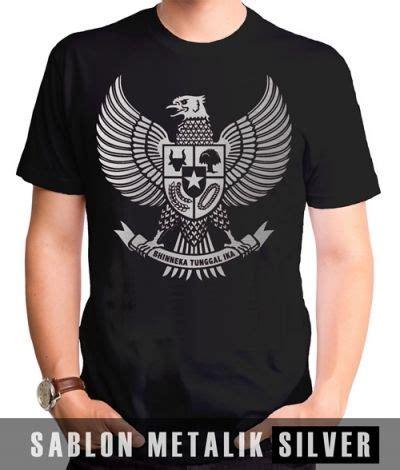 Kaos Indonesia Kaos Distro Garuda kaos sablon garuda metalik silver kaos premium