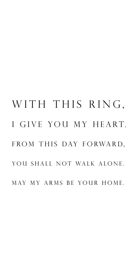 wedding vow idea quot with this ring i give you my