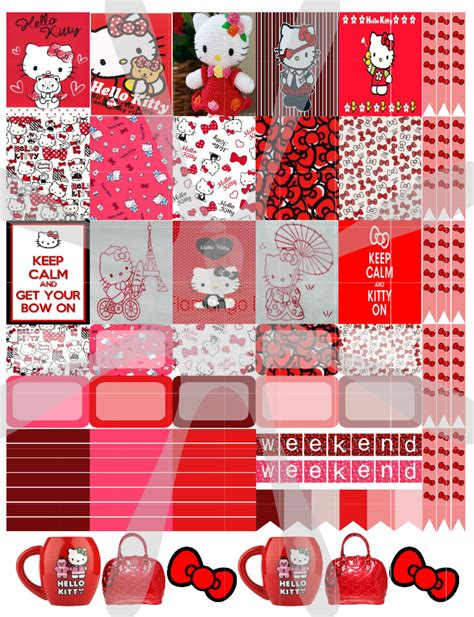 free printable hello kitty planner freebie hello kitty red day planner stickers