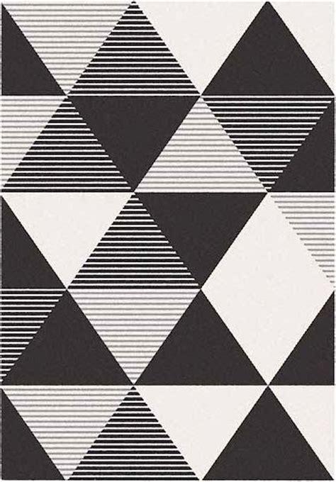 tappeto bianco e nero tappeto geometrico a triangoli blend bianco e nero 160x230