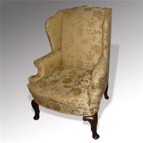 georgian armchairs large georgian revival wing back armchair 263692