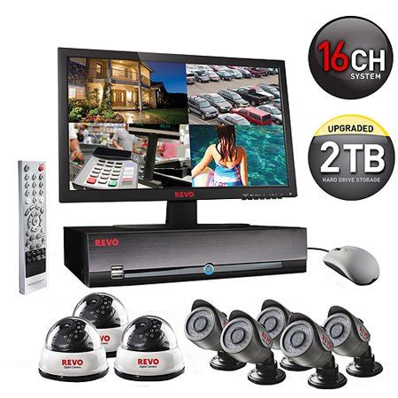 Mini Surveillance 947 by Revo Indoor Outdoor 16 Channel Surveillance System With